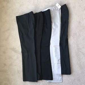 Bundle of 5 pairs of dress pants